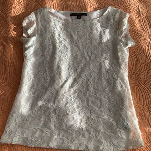 Small cream/white lace top used